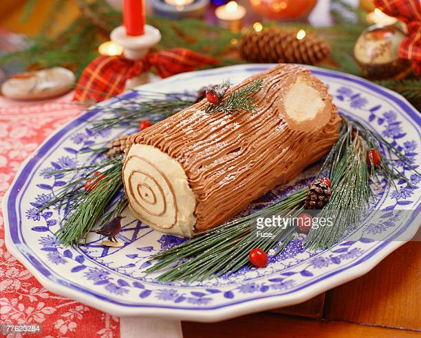 Yule Log on Tray