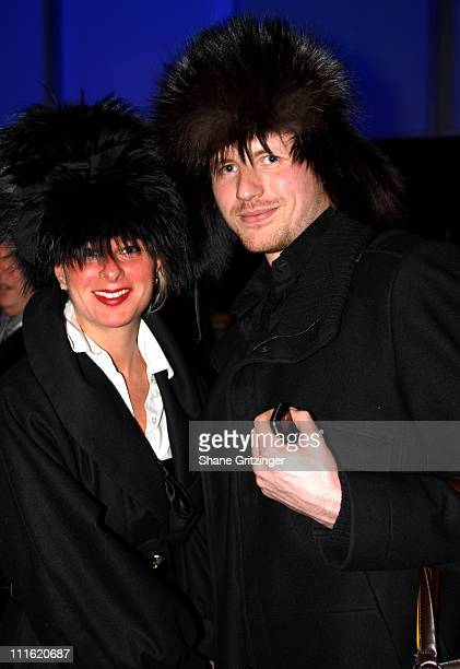 Yule Oolou and Yuri Ezhkov during Mercedes-Benz Fashion Week Fall 2007 - Seen Around Bryant Park - Day 9 at Bryant Park in New York City, New York,...