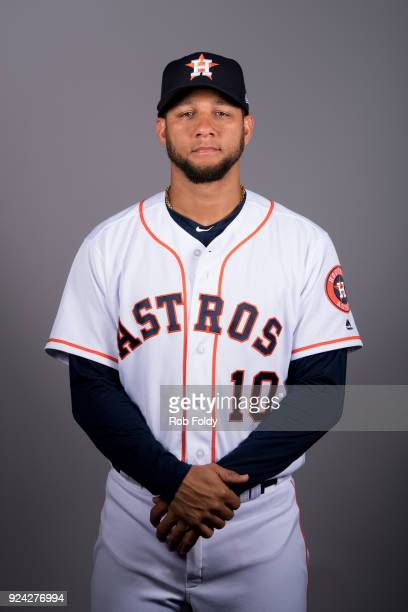 Yuli Gurriel of the Houston Astros poses during Photo Day on Wednesday February 21 2018 at the Ballpark of the Palm Beaches in West Palm Beach Florida