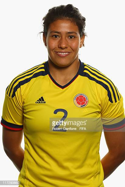 Yuli Munoz of Colombia during the FIFA portrait session on June 25 2011 in Cologne Germany