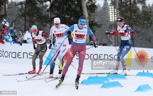 Yulia Belorukova competes during the women's team sprint event of the 2017 FIS Nordic World Ski Championships in Lahti Finland on February 26 2017
