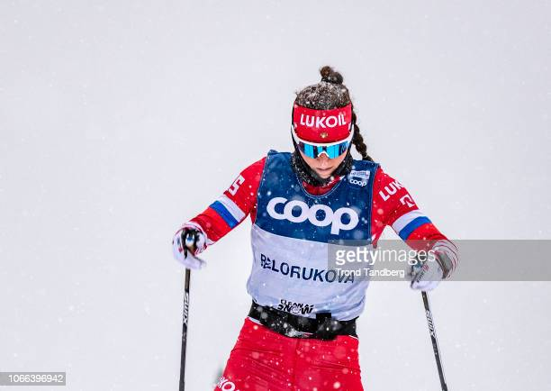 Yulia Belorukova of RUS during training at Birkebeiner Stadion on November 29 2018 in Lillehammer Norway