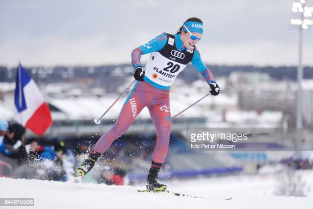 Yulia Belorukova of Russia during the cross country sprint during the FIS Nordic World Ski Championships on February 23 2017 in Lahti Finland