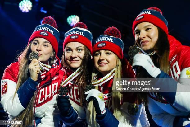 Yulia Belorukova of Russia takes 3rd place Anastasia Sedova of Russia takes 3rd place Anna Nechaevskaya of Russia takes 3rd place Natalia Nepryaeva...