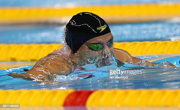 Yulia Efimova of Russia competes in the semi final of the Women's 100m Breaststroke final during Day 2 of the Rio 2016 Olympic Games at Olympic...