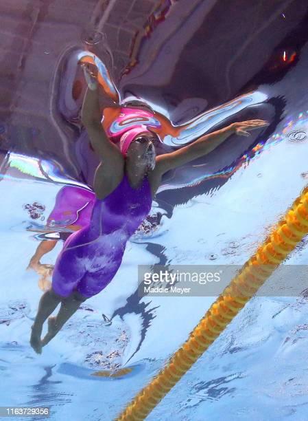Yulia Efimova of Russia competes in the Women's 100m Breaststroke Final on day three of the Gwangju 2019 FINA World Championships at Nambu...