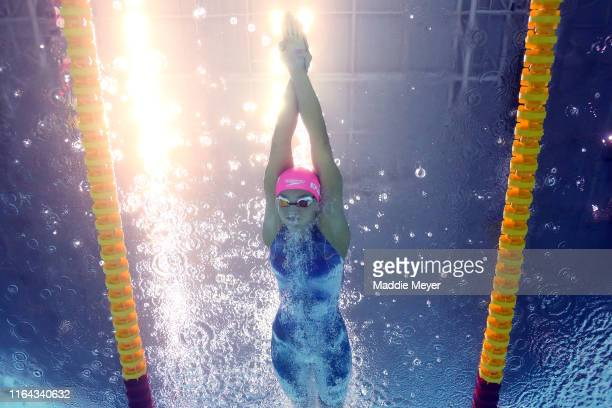 Yulia Efimova of Russia competes in the Women's 200m Breaststroke Final on day six of the Gwangju 2019 FINA World Championships at Nambu...