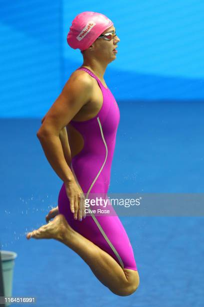 Yulia Efimova of Russia prepares to compete in the Women's 50m Breaststroke Semifinal on day seven of the Gwangju 2019 FINA World Championships at...