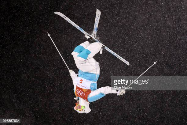 Yulia Galysheva of Kazakhstan competes during the Freestyle Skiing Ladies' Moguls Final on day two of the PyeongChang 2018 Winter Olympic Games at...
