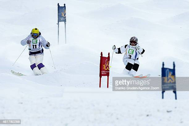 Yulia Galysheva of Kazakhstan takes 3rd place during the FIS Freestyle Ski World Championships Men's and Women's Dual Moguls on January 19 2015 in...