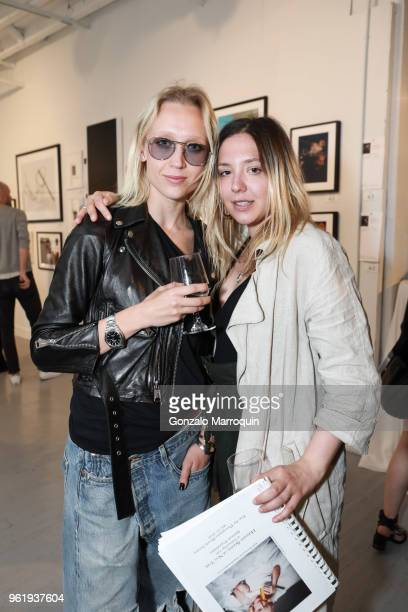 Yulia Gorbachenko and Sandy Armeni during the Humane Society Of New York In Partnership With Aperture Foundation Fine Art Photography Benefit Auction...