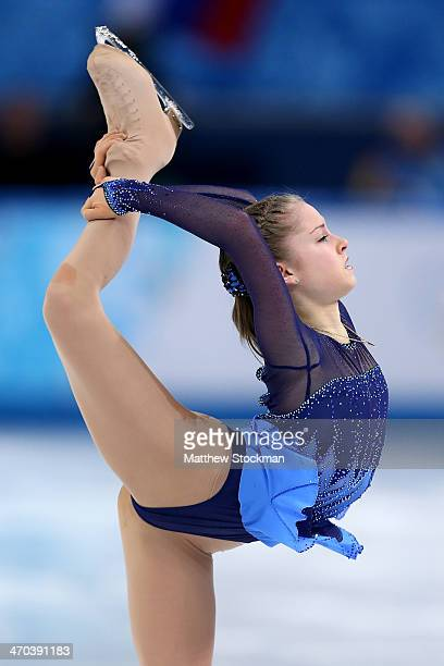 Yulia Lipnitskaya of Russia competes in the Figure Skating Ladies' Short Program on day 12 of the Sochi 2014 Winter Olympics at Iceberg Skating...