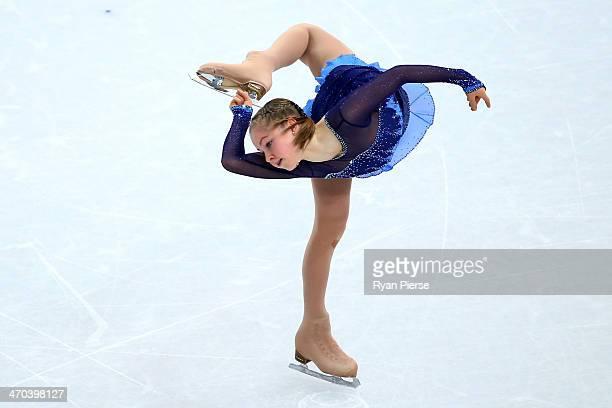 Yulia Lipnitskaya of Russia competes in the Figure Skating Ladies' Short Program on day 12 of the Sochi 2014 Winter Olympics at Iceberg Skating...