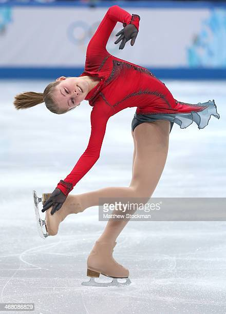 Yulia Lipnitskaya of Russia competes in the Team Ladies Free Skating during day two of the Sochi 2014 Winter Olympics at Iceberg Skating Palace onon...