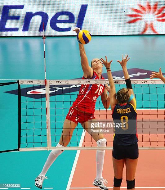 Women Volleyball European Championship: Yulia Merkulova Stock Photos And Pictures