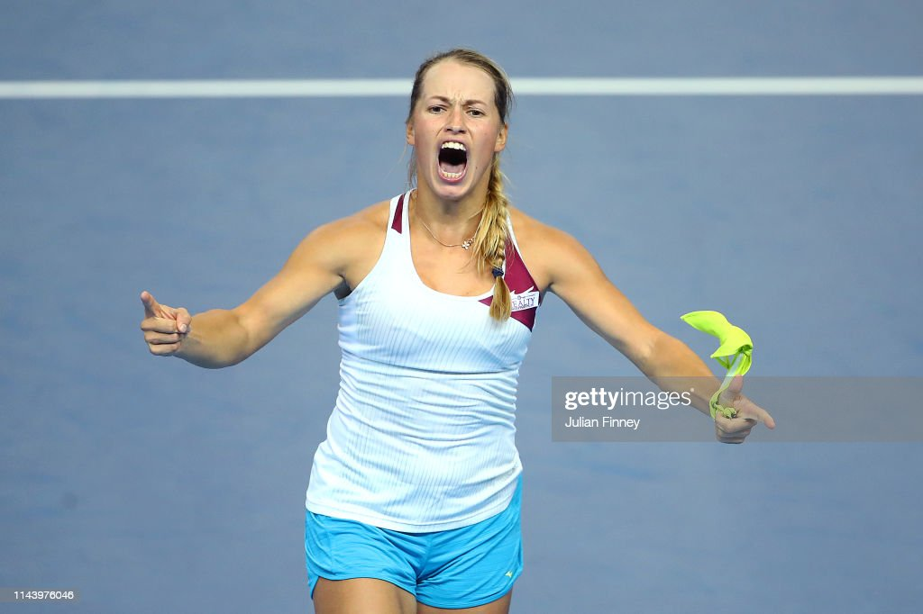 Great Britain v Kazakhstan - Fed Cup: Day 1 : News Photo