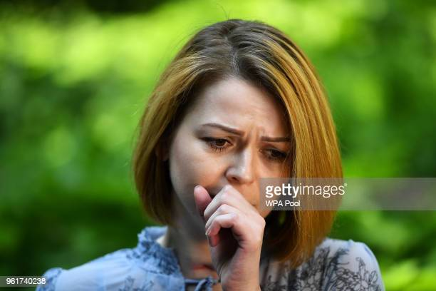 Yulia Skripal speaks to a journalist on May 23 2018 in London United KingdomYulia Skripal was poisoned with a nerve agent in Salisbury along with her...