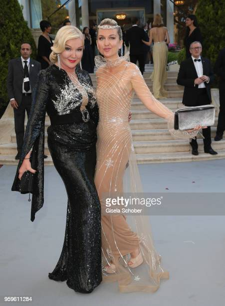 Yulia Yanina and Dasha Yanina arrive at the amfAR Gala Cannes 2018 at Hotel du CapEdenRoc on May 17 2018 in Cap d'Antibes France
