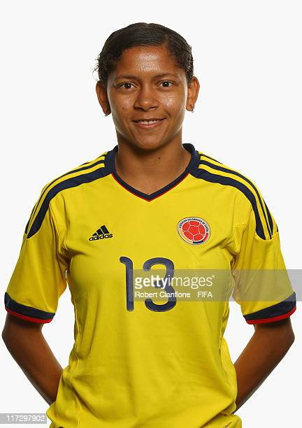 Yulieht Dominguez of Colombia during the FIFA portrait session on June 25 2011 in Cologne Germany