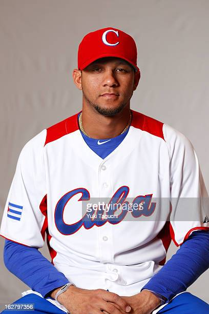 Yulieski Gourriel of Team Cuba poses for a headshot for the 2013 World Baseball Classic at the Rihga Royal Hotel on Monday February 25 2013 in Osaka...