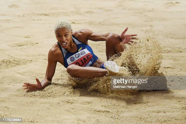 Yulimar Rojas of Venezuela competes in the Women's Triple Jump final during day nine of 17th IAAF World Athletics Championships Doha 2019 at Khalifa...