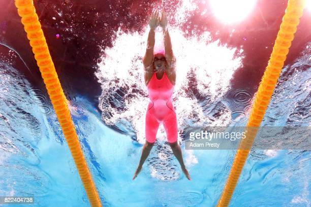 Yuliya Efimova of Russia competes during the Women's 100m Breaststroke AriPekka Liukkonen of Finland on day twelve of the Budapest 2017 FINA World...