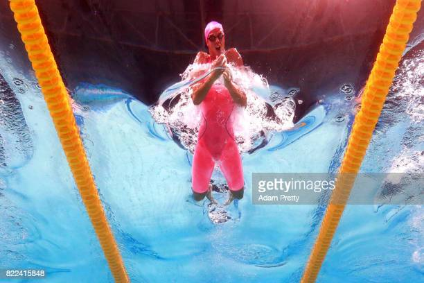 Yuliya Efimova of Russia competes during the Women's 100m Breaststroke final on day twelve of the Budapest 2017 FINA World Championships on July 25...