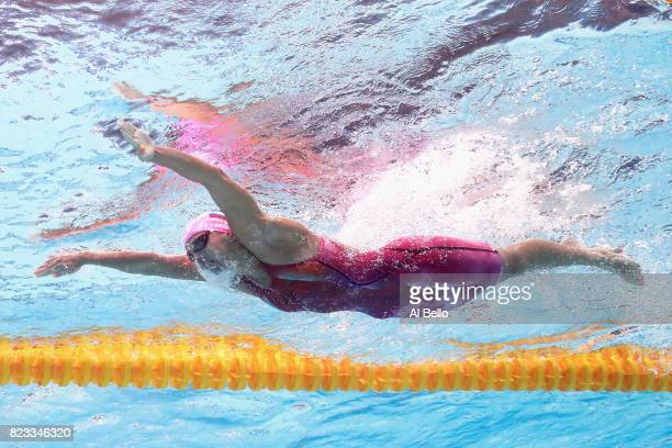 Yuliya Efimova of Russia competes during the Women's 200m Breaststroke Heats on day fourteen of the Budapest 2017 FINA World Championships on July 27...