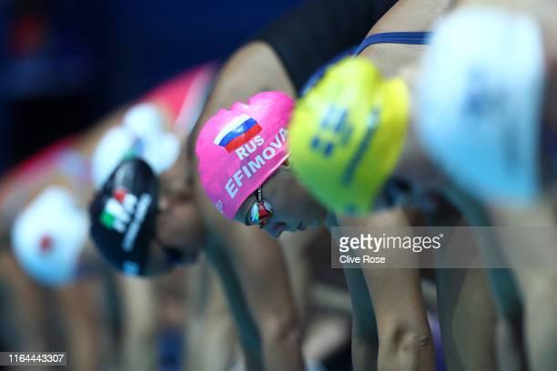 Yuliya Efimova of Russia competes in the Women's 50m Breaststroke heats on day seven of the Gwangju 2019 FINA World Championships at Nambu...
