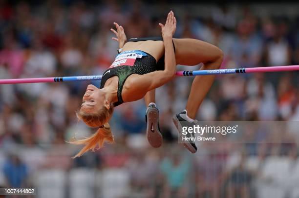 Yuliya Levchenko of Ukraine during the Muller Anniversary Games at London Stadium on July 22 2018 in London England