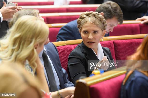 Yuliya Timoshenko during a session of Parliament Kyiv Ukraine
