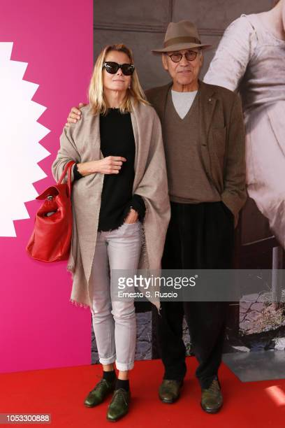 Yuliya Vysotskaya and Andrey Konchalovskiy attend the Andrej Koncalovskij Masterclass At Casa Alice during the 13th Rome Film Fest at Auditorium...