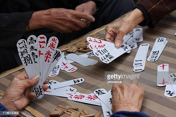 yulong bridge, yangshuo, china - bridge card game photos et images de collection
