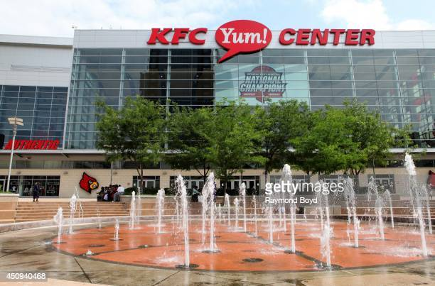 Yum Center home of the Louisville Cardinals basketball team on May 30 2014 in Louisville Kentucky
