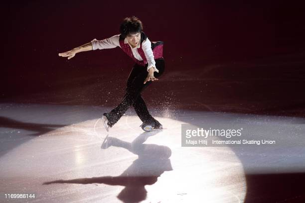 Yuma Kagiyama of Japan performs during Gala Exhibition at the ISU Junior Grand Prix of Figure Skating Grand Prix de Courchevel at on August 24 2019...