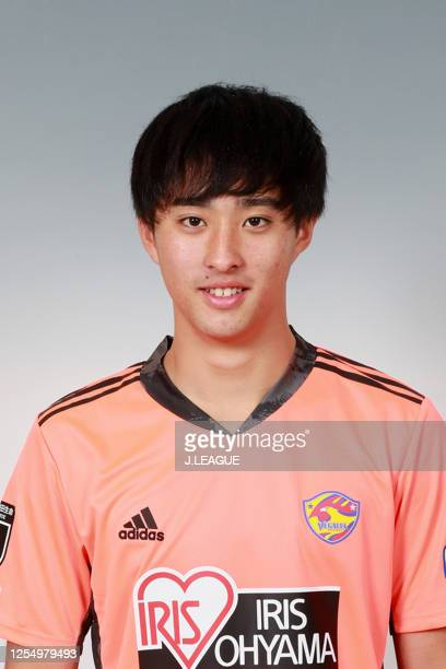 Yuma Obata poses for photographs during the Vegalta Sendai portrait session on January 9, 2020 in Japan.