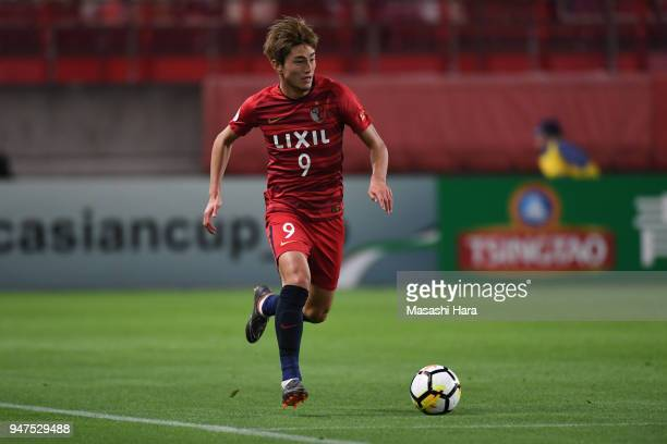 Yuma Suzuki of Kashima Antlers in action during the AFC Champions League Group H match between Kashima Antlers and Suwon Samsung Bluewings at Kashima...
