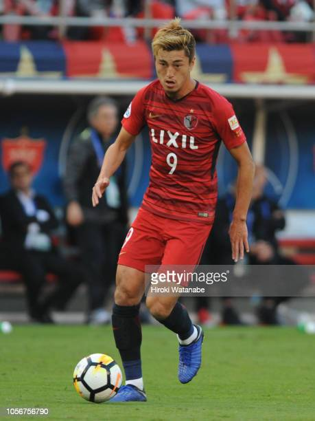 Yuma Suzuki of Kashima Antlers in action during the AFC Champions League final first leg match between Kashima Antlers and Persepolis at Kashima...