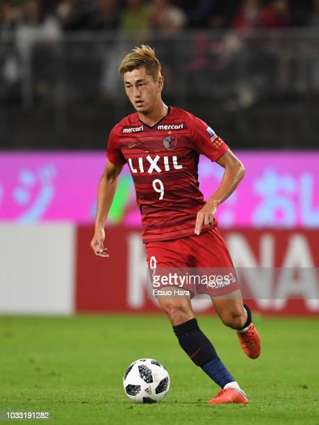 Yuma Suzuki of Kashima Antlers in action during the JLeague J1 match between Kashima Antlers and Shonan Bellmare at Kashima Soccer Stadium on...