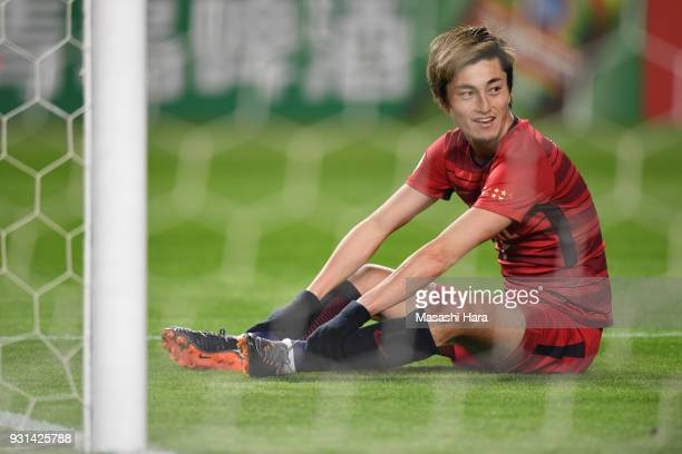 Yuma Suzuki of Kashima Antlers looks on during the AFC Champions League Group H match between Kashima Antlers and Sydney FC at Kashima Soccer Stadium...
