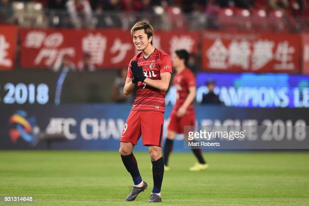 Yuma Suzuki of Kashima Antlers reacts during the AFC Champions League Group H match between Kashima Antlers and Sydney FC at Kashima Soccer Stadium...