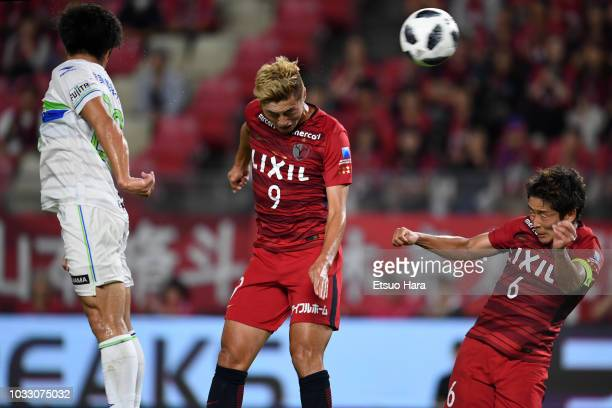 Yuma Suzuki of Kashima Antlers scores his side's second goal during the JLeague J1 match between Kashima Antlers and Shonan Bellmare at Kashima...