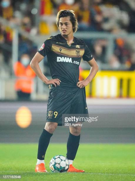 Yuma Suzuki of Sint Truiden VV disappointed during the Jupiler Pro League match between KV Mechelen and Sint Truiden VV at Achter de Kazerne on...