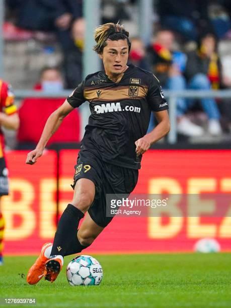 Yuma Suzuki of Sint Truiden VV during the Jupiler Pro League match between KV Mechelen and Sint Truiden VV at Achter de Kazerne on september 26, 2020...