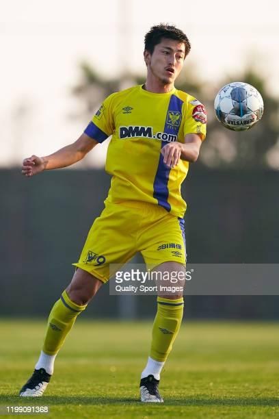 Yuma Suzuki of Sint-Truiden in action during the Friendly match between FC Schalke 04 and Sint-Truiden at Pinatar Arena on January 07, 2020 in...