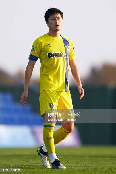 Yuma Suzuki of Sint-Truiden looks on during the Friendly match between FC Schalke 04 and Sint-Truiden at Pinatar Arena on January 07, 2020 in Murcia,...