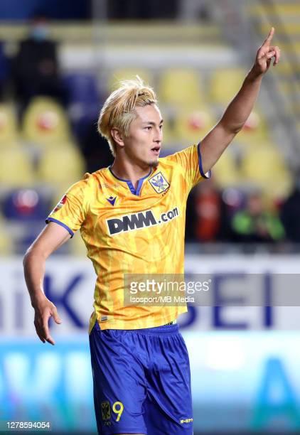 Yuma Suzuki of STVV during the Jupiler Pro League match between STVV and KV Kortrijk at Stayen on October 3, 2020 in Sint-Truiden, Belgium.