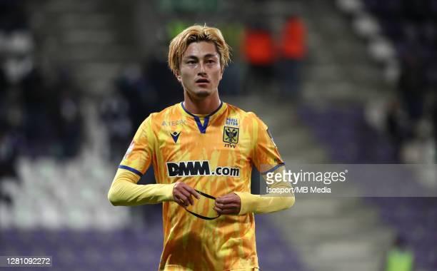 Yuma Suzuki of STVV during the Jupiler Pro League match between Beerschot V.A. And STVV at Olympisch Stadium on October 17, 2020 in Antwerpen,...