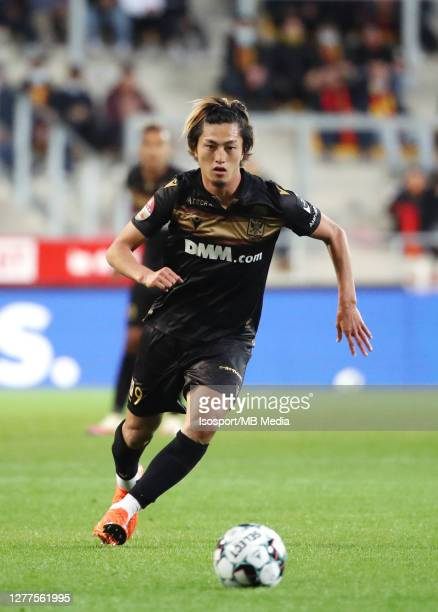 Yuma Suzuki of STVV in action during the Jupiler Pro League match between KV Mechelen and Sint-Truidense VV at AFAS-Stadium on September 26, 2020 in...