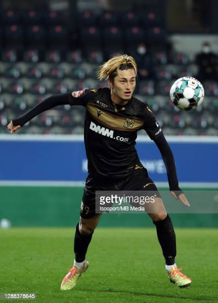 Yuma Suzuki of STVV in action with the ball during the Jupiler Pro League match between OHL and STVV at King Power at Den Dreef Stadium on November...